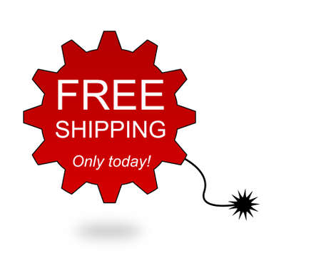 Label with free shipping