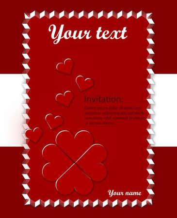 rectangulo: Amar tarjeta con corazones