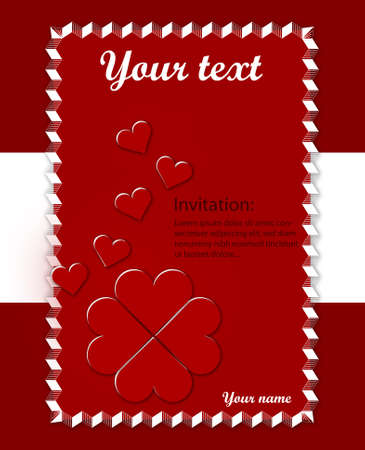 Loving card with hearts