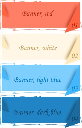 Color banners with corners