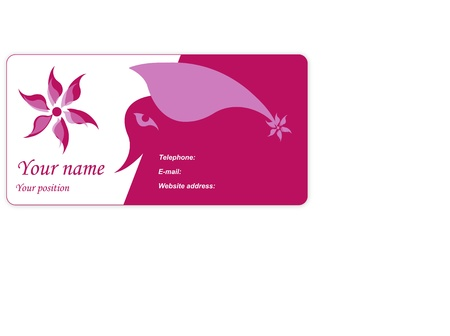 Visit card with flower