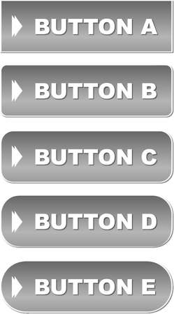 Business buttons with round corners Illustration