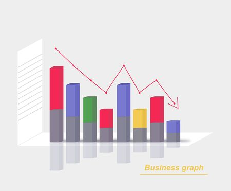 Color business graph Illustration