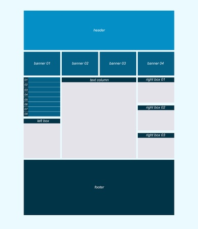 Three column website business layout