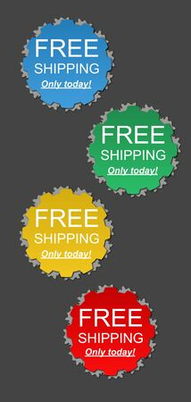 Colored free shipping offer