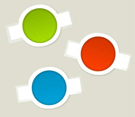 eshop: Website labels for eshop products Illustration