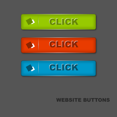 Beautiful website buttons with linear lines