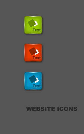 Beautiful website icons with text