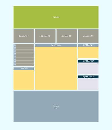 Three column wesite layout