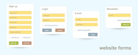 textfield: business website forms Illustration