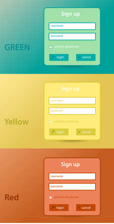 color website forms for sign up