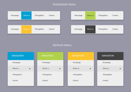 clear style website navigation
