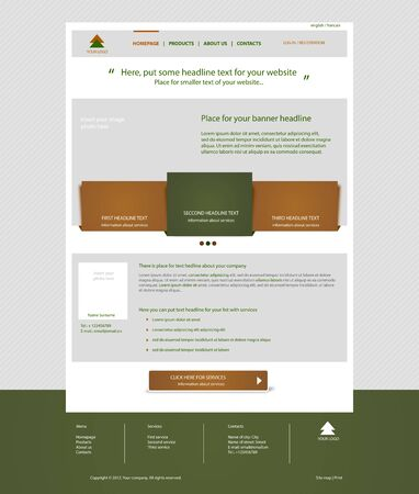 Website business template layout with text Vector