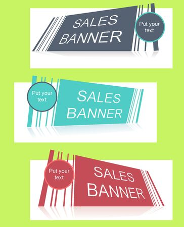 text field: Sale banner with text field Illustration