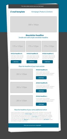 newsletter template: Newsletter blue template with business style