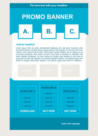 newsletter: Newsletter blue template with business style