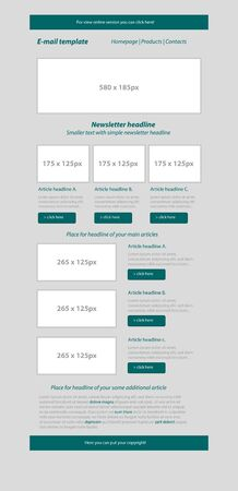 business style: Newsletter dark green template with business style