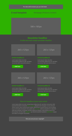 tittle: Newsletter green template with business style