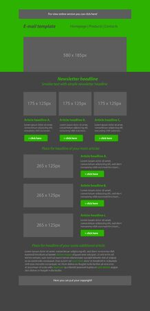 business style: Newsletter green template with business style