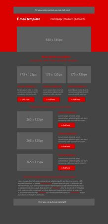 newsletter: Newsletter red template with business style