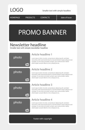 Newsletter black and white template