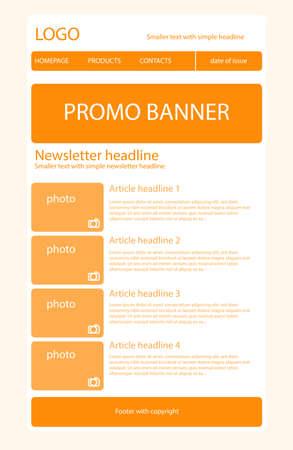 Newsletter light orange template