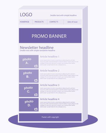 Newsletter violet template