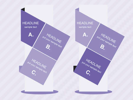 headline: Creative violet column with headline Illustration