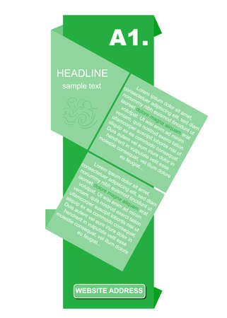 advertising column: creative column with headline and text