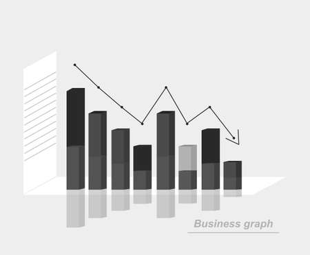simple business graph with columns