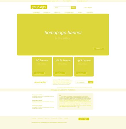 business web layout for company