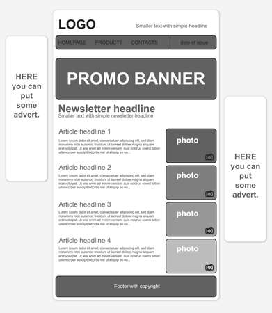 responsive: Responsive newsletter template with banners