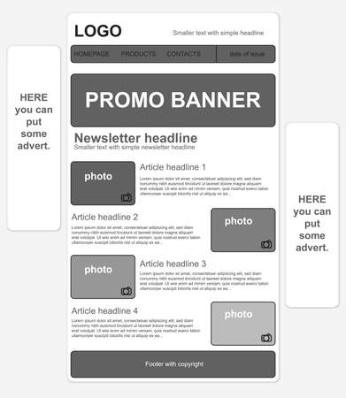 newsletter template: Responsive newsletter template with banners