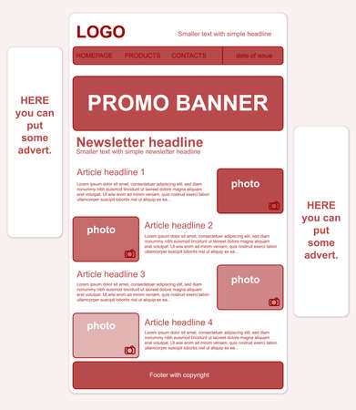 Responsive newsletter template with banners