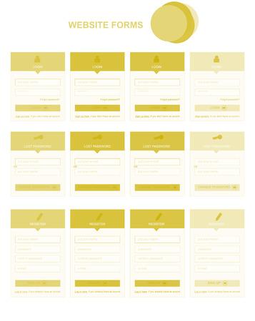 site web: Sito web piano forma con il testo Vettoriali