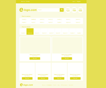 responsive flat web template for shopping