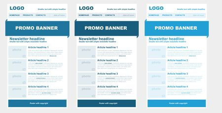 print template: Responsive newsletter template for business or non-profit organization