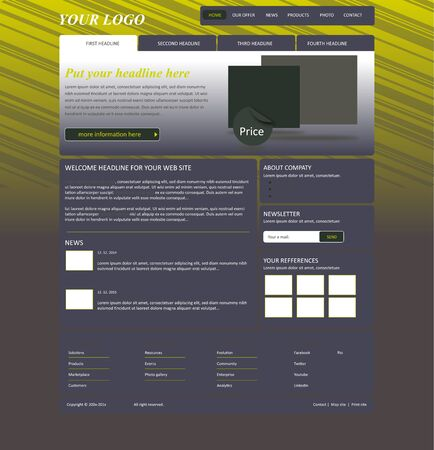 business template: responsive web layout business template