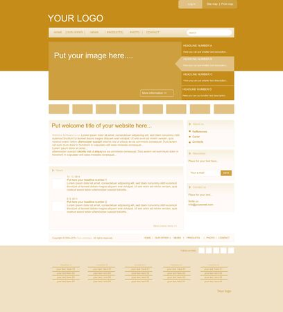 responsive business web layout for company or non-profit organization