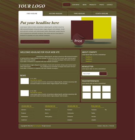 web template: responsive web layout business template