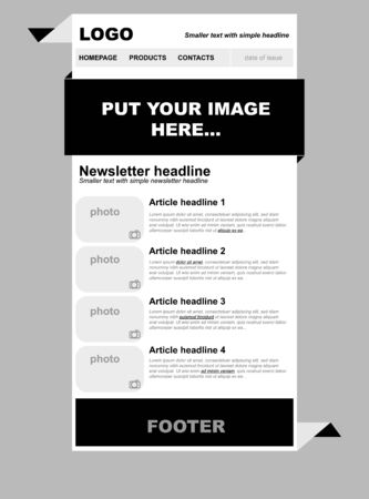 Responsive newsletter template for business or non-profit organization