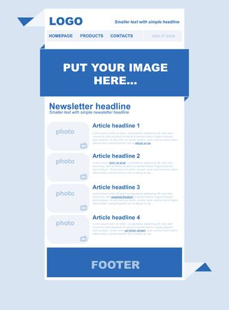 nonprofit: Responsive newsletter template for business or non-profit organization
