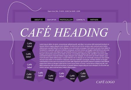 responsive web layout template for restaurant