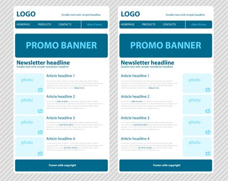 email: Responsive newsletter template for business or non-profit organization