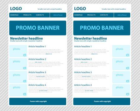 correo electronico: Sensible plantilla de boletín de noticias para la organización empresarial o sin fines de lucro Vectores