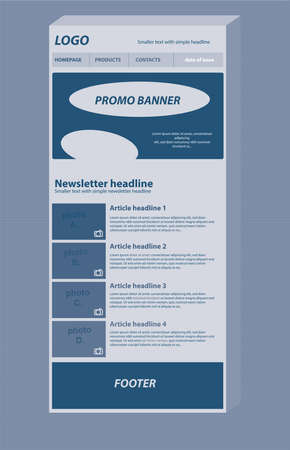 responsive: responsive newsletter layout template for business or non-profit organization Illustration