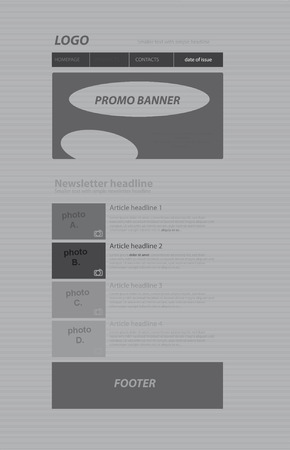 nonprofit: responsive newsletter layout template for business or non-profit organization Illustration