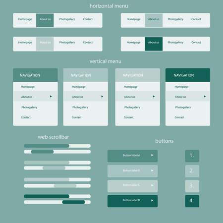 site web: Elementi sensibili per il sito web Vettoriali