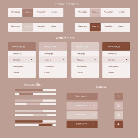 responsive elements for web site