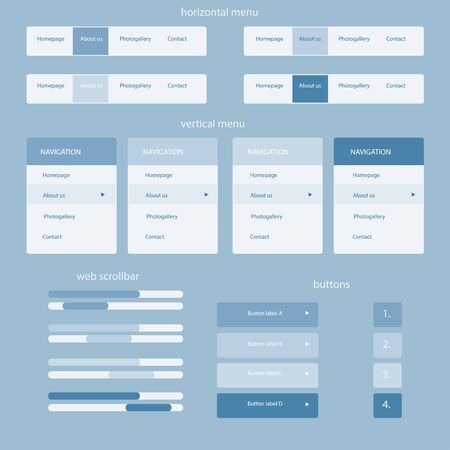 web site: responsive elements for web site